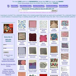 Over 200 Free Crocheted Dishcloth Patterns at AllCrafts