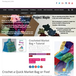 Crocheted Market Bag + Tutorial