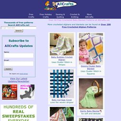 Over 50 Free Crocheted Baby Blanket Patterns at AllCrafts.net