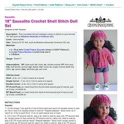 "Crocheted Doll Set - 18"", AG Doll"