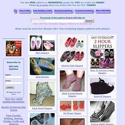 Over 100 Free Crocheted Slippers Patterns: AllCrafts.net
