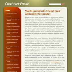 Crocheter Facile » Blog Archive » Motifs gratuits de crochet pour débutant(e) avancé(e)