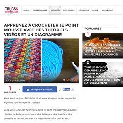 Apprenez à crocheter le point mousse avec des tutoriels vidéos et un diagramme! - Trucs et Bricolages