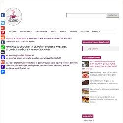 APPRENEZ À CROCHETER LE POINT MOUSSE AVEC DES TUTORIELS VIDÉOS ET UN DIAGRAMME! - Top Astuces