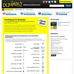 Crocheting For Dummies Cheat Sheet