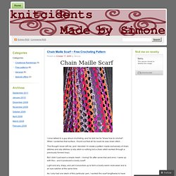 Chain Maille Scarf – Free Crocheting Pattern « Glove Love