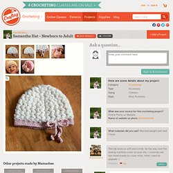 Samantha Hat - Newborn to Adult