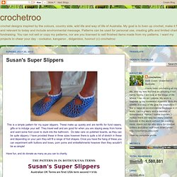 crochetroo: Susan's Super Slippers