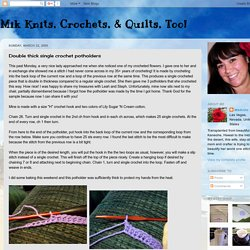 Mik Knits, Crochets, & Quilts, Too!: Double thick single crochet potholders