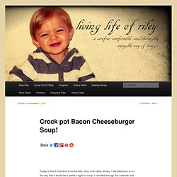 Crock pot Bacon Cheeseburger Soup! | Living Life of Riley