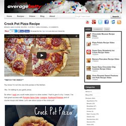 Crock Pot Pizza Recipe - Average Betty