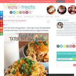 Crock Pot Tater Tot Egg Bake - Julie's Eats & Treats
