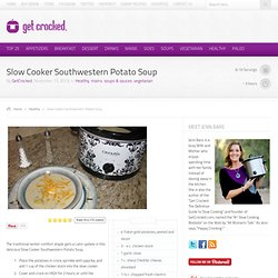 Slow Cooker Southwestern Potato Soup
