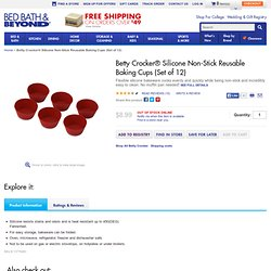 Betty Crocker Silicone Non-Stick Reusable Baking Cups (Set of 12)