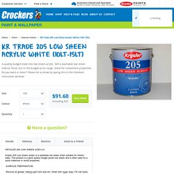KR Trade 205 Low Sheen Acrylic White (10lt-15lt)