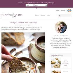 Crockpot Chicken Wild Rice Soup Recipe