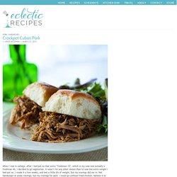 Crockpot Cuban Pork
