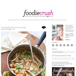 Crockpot Pork Posole Stew Recipe