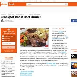 Crockpot Roast Beef Recipe