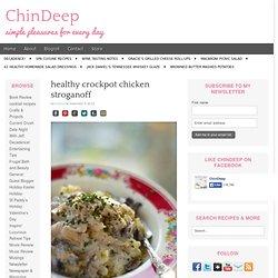 healthy crockpot chicken stroganoff
