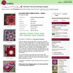 Crocodile Stitch Afghan Block - Dahlia pattern by Joyce Lewis
