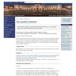 The Crocodile's Toothache - [English website of the Académie de Toulouse]