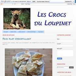 Pain plat croustillant