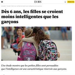 Dès 6 ans, les filles se croient moins intelligentes que les garçons