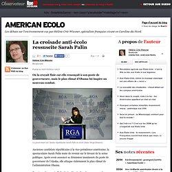 La croisade anti-écolo ressuscite Sarah Palin