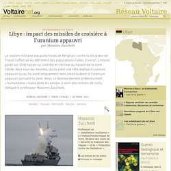 Libye : impact des missiles de croisière à l'uranium appauvri