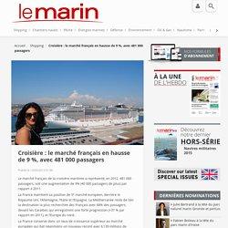 Croisière : le marché français en hausse de 9 %, avec 481 000 passagers