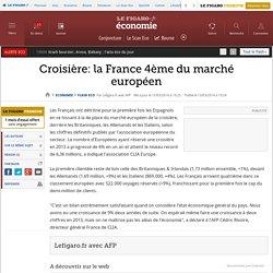 Croisière: la France 4ème du marché européen
