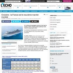 Croisière : la France est le neuvième marché mondial