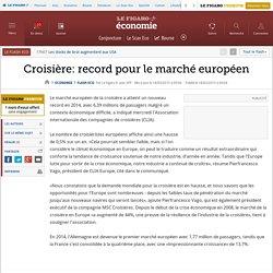 Croisière: record pour le marché européen