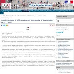 Nouvelle commande de MSC Croisières pour la construction de deux paquebots par STX France