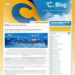 Costa Croisières engagé dans le développement durable !