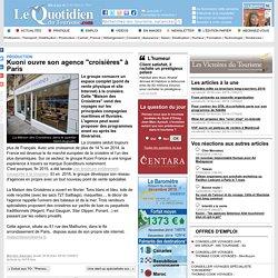"""Kuoni ouvre son agence """"croisières"""" à Paris - Production sur Le Quotidien du Tourisme"""