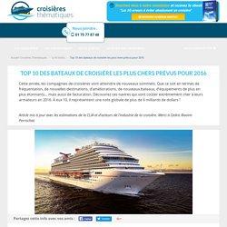 Top 10 des bateaux de croisière les plus chers prévus pour 2016 - Croisières Thématiques