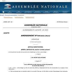 LA CROISSANCE ET L'ACTIVITÉ(no 2447) - Amendement no 1810