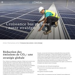Croissance bas carbone : notre stratégie