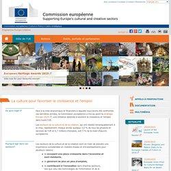 La culture pour favoriser la croissance et l'emploi - Commission européenne