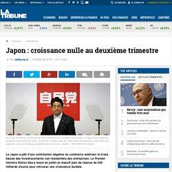 Japon: croissance nulle au deuxième trimestre