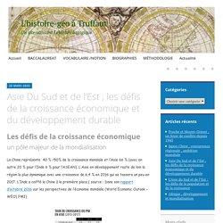 Asie Du Sud et de l'Est , les défis de la croissance économique et du développement durable – L'histoire-géo à Truffaut