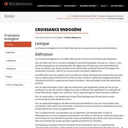 Croissance endogène