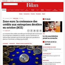 Zone euro: la croissance des crédits aux entreprises décélère en octobre (BCE)