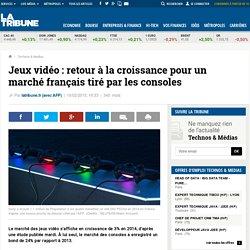 Jeux vidéo: retour à la croissance pour un marché français tiré par les consoles