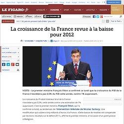 Conjoncture : La croissance de la France revue à la baisse pour 2012