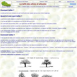 Taille des arbres fruitiers pearltrees for Quand couper les arbres fruitiers