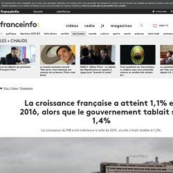 La croissance française a atteint 1,1% en 2016, alors que le gouvernement tablait sur 1,4%