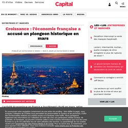 Croissance : l'économie française a accusé un plongeon historique en mars...
